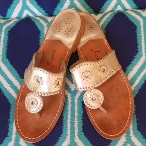 Jack Rogers Navajo Platinum Sandal size 10
